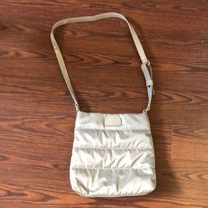 Kate spade silver puffy cross body purse
